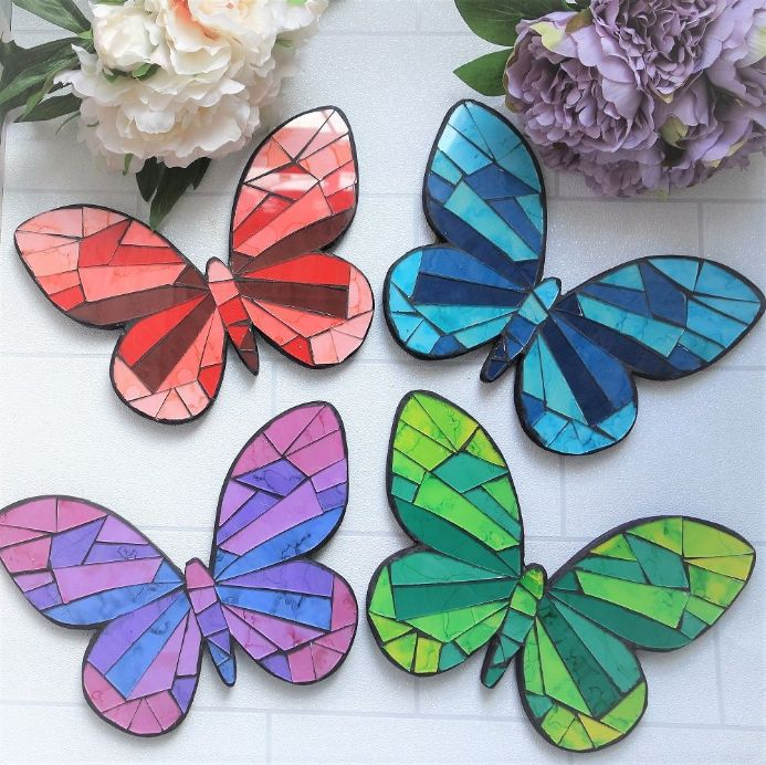 50% off Butterfly mosaic plaques